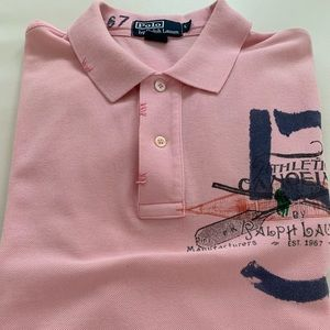 Ralph Lauren Polo men short sleeve pink /L